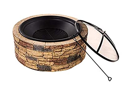 Peachy Large Fire Pit Outdoor Fireplace Wood Burning Cast Stone Bowl Yard Patio Decor Home Interior And Landscaping Ologienasavecom