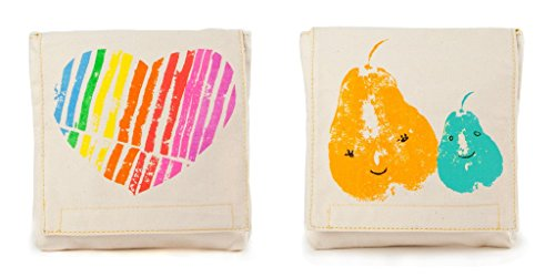 Fluf Reusable Sandwich & Snack Bags (Set of 2), Mama Love