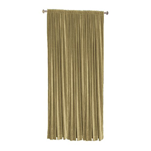 Cotton Velvet Blackout Thermal Insulated Rod Pocket Curtain Panel (Single Panel) by TheVelvetCompany-50''w X 108''h-Mocha (108' Rod Pocket)