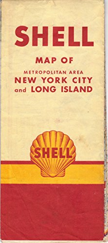 Shell Oil Road Map New York City and Long Island Metropolitan Area
