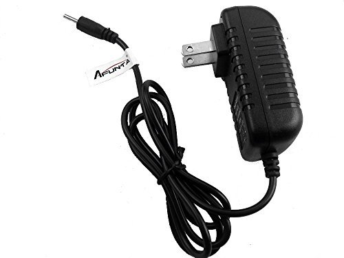 AFUNTA DC 5V 2A/2000mah AC Power Adapter Wall Charger for Android Tablet PC MID eReader with Round 2.5mm Jack US Plug - Black
