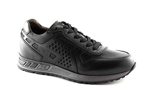 NEGRO JARDINES 4350 ILCEA deportiva negra cordones de los zapatos de los hombres de la zapatilla de deporte Nero