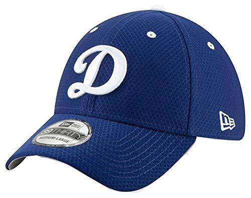 New Era 2019 MLB Los Angeles Dodgers Bat Practice Home Hat Cap 39Thirty (L/XL) Royal Blue