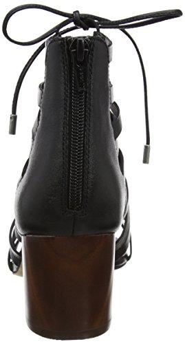 Aldo Myssi - Sandalias de tobillo Mujer Negro (97 Black Leather)