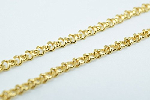 (New Gold Filled Chain 18K Size 2x1mm for Jewelry Making GFC55 Sold by Foot (1FOOT))