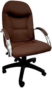 Cadeira Escritório Day Presidente CompreAlegre Giratória Reclínio (Marrom)