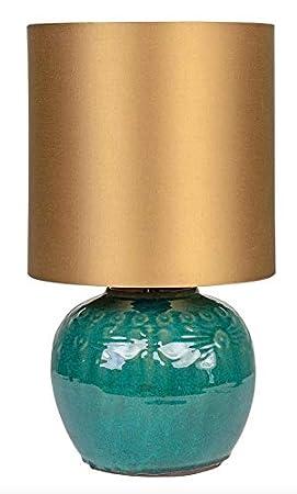 Casa-Padrino lámpara de Mesa de Lujo en Color Verde Oscuro ...