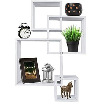 Amazon Com Geometric Square Wall Shelf With 5 Openings