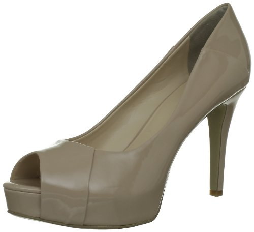 Nine West Nwcadee-Synthetic, Damen Pumps Beige (Natural)