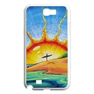 Durable Hard cover Customized TPU case Sunrise Samsung Galaxy N2 7100 Cell Phone Case White
