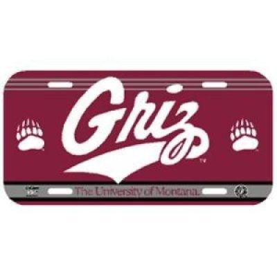 Montana Grizzlies Car (Montana Grizzlies Plastic License Plate)
