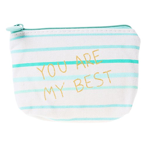 Poity Girl Lovely Canvas Purse Wallet Storage Bag Coin Card Key Holder Zipped Pouch 04# Length: 12cm (4.72in)