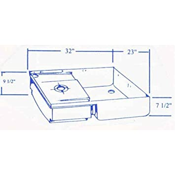 220 Rv Fiberglass Shower Pan Toilet Mount Holding Tank Combo Amazon