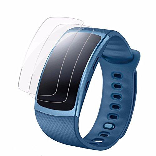 Samsung Gear Fit 2 Displayschutz Schutzfolien [8 Packs], Vollständige Abdeckung für Samsung Gear Fit2, eLander Samsung Gear Fit2 (Getriebe Fit 2) blasenfrei Film