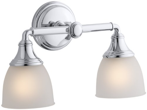 KOHLER K-10571-CP Devonshire Double Wall Sconce, Polished Chrome