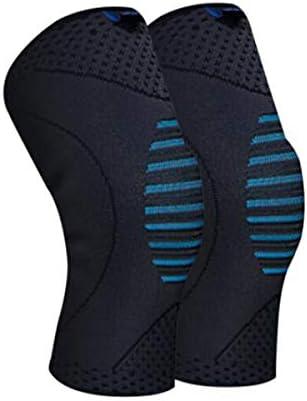 Kaiyitong001 ニット通気性の膝パッド、ヨガ弾性の膝パッド、M/L、ブラック2パックを実行しているバスケットバドミントン,スタイリッシュで絶妙 (Color : Blue Gray, Size : M)
