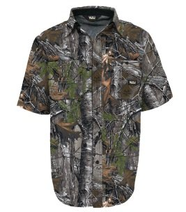 Walls Men's Legend Cape Back Short Sleeve Shirt with Drytec Water-Repellent Finish, Realtree Extra, X-Large