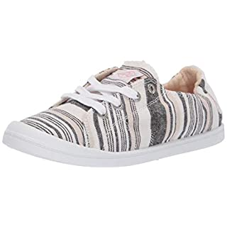 Roxy Women's Bayshore Slip On Sneaker Shoe, New Light Multi, 6 Medium US