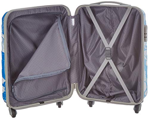 41Rb52yabSL Skybags Trooper 55 Cms Polycarbonate Blue Hardsided Cabin Luggage