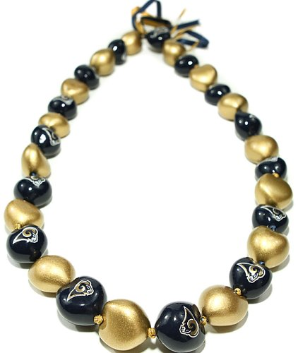 (NFL St. Louis Rams Go Nuts Kukui Nut Lei Necklace)