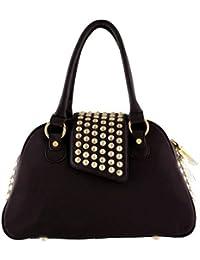 50ac468a27 Womens Gwen Studded Bowler Hanbag Black Purse · Christian Audigier