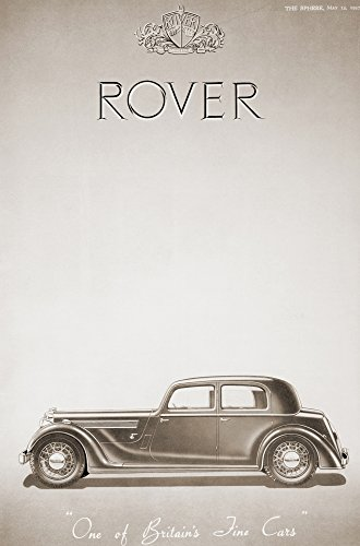 A 1937 advertisement for the Rover Car From The Sphere Coronation Record Number published 1937 Poster Print by Hilary Jane Morgan Design Pics (22 x 34)