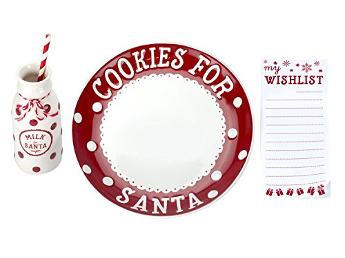 Pearhead Santa's Cookie Set, Red/White by Pearhead