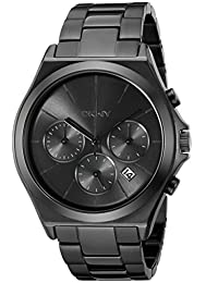 DKNY Parsons Chronograph Black Dial Black Ion-plated Mens Watch NY2380