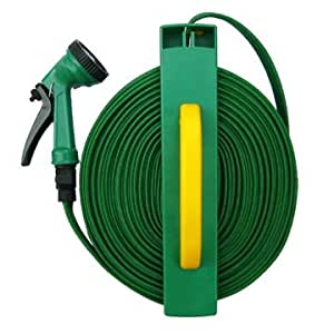 how to roll a hose reel