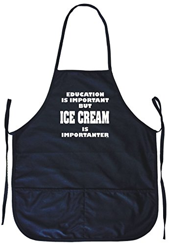 Education Is Important But Ice Cream is Importanter Cooking Apron (Ice Apron Cream)