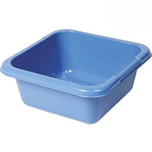 Spülschüssel aus Kunststoff, viereckig, 6,5 Liter: Waschschüssel Plastikschüssel Schüssel Camping Spüle