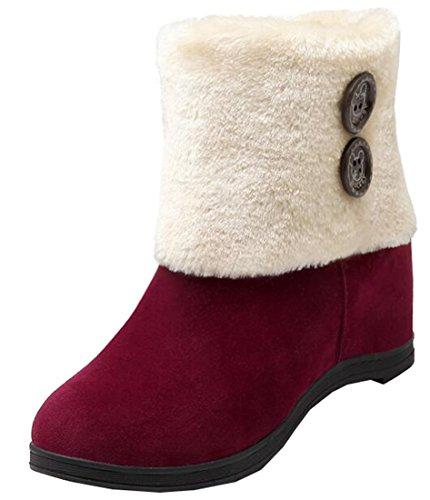 Botas para WineRed de Laruise mujer nieve HnHR1wxS