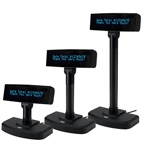 "Adesso APD-100 POS Register Stand Up Display Vacuum Fluorescent Screen VFD Monitor 8.8"" Black"