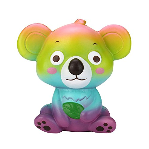New 12cm Cute Koala Squishy Toy, Unpara Cream Scented Slow Rising Squeeze Strap Kid Toy Gift Collections Cellphone Straps, A Stress Reliever