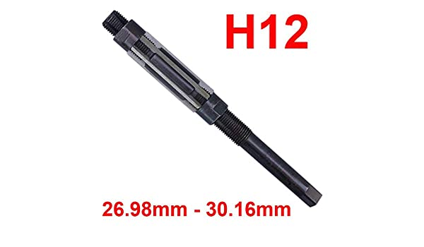 "H12 Adjustable Hand Reamer Tool 1.1//16/"" to 1.3//16/"" 26.98-30.16mm Best"