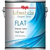 Majic 8-1814-1 Interior Latex Flat Wall Paint, Neutral Base (Pack Of 4)