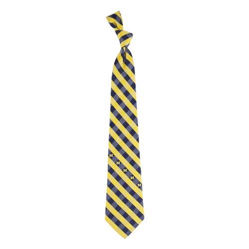Michigan Check Poly Necktie