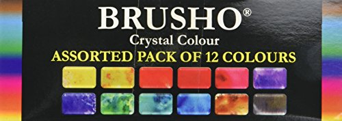 (Brusho by Colourcraft 12 Color Brusho Crystal Colour Set)