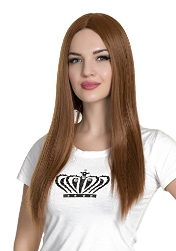 PINKISS High Quality Fashion Hair Replacement Extension Wig with Free Quality Wig Cap (LS120A / Sienna) -