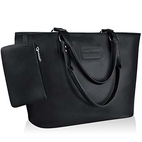 Large Black Handbag - Sunny Snowy Tote Handbags for Women,Vintage Satchel Handbags Purse Tote Bag(8019,black)