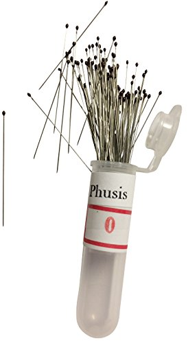 Phusis Stainless Steel Insect Pins - Size #0 - Set of 100 - for Entomology, Dissection and Butterfly Collections -