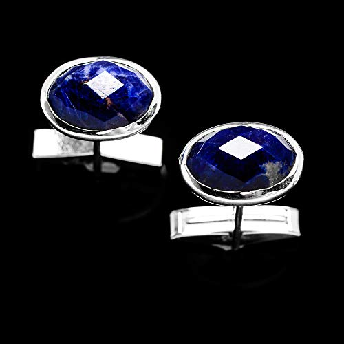 (Ana Silver Co Lapis Lazuli 925 Sterling Silver Cuff Links 1