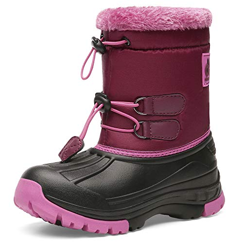Kids Snow BootsBoys & GirlsWinterBoots Waterproof Cold Weather Outdoor Boots (Toddler/Little Kid/Big Kid) DKTX001-T8-36 (Snow Boots For Toddler Boys)