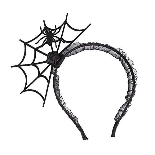 Yonger Girls Headband Halloween Hair Accessories Black Spider