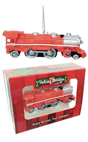 "LNL22047 Ornament, 4.5"" Locomotive/Happy Holidays"
