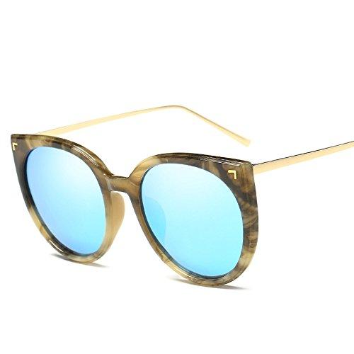 Irregular De Medio Polarizado Moda Gafas Protección Pareja Gafas Conducción De Marco Protección E Mujeres Sol Polarizador Redondo UV De Sol Gafas Sol Unisex Vintage Sol Solar Trend Gafas B Gafas De De XxUqYa