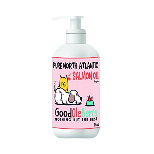 [Pure North Atlantic Salmon Oil for dogs and cat's from Good Ole Ben's. Human grade, Omega-3 and -6 EPA and DHA Fatty Acids, supports immune, joint and heart health. (16 oz)] (Atlantic Oil)