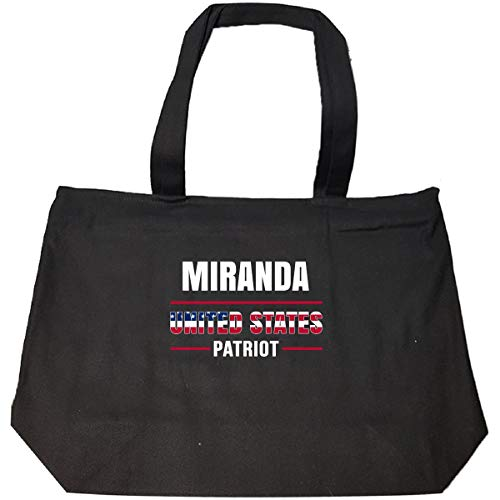 Miranda United States Patriot Independence Day Gift - Tote Bag With Zip