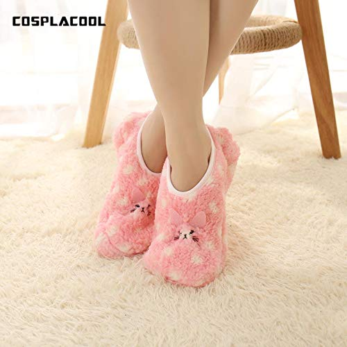 Amazon.com: Winter Cute Animal Warm Socks Women Towel Fuzzy Socks Candy Color Thick Floor Meias Calcetines Mujer 1: Cell Phones & Accessories