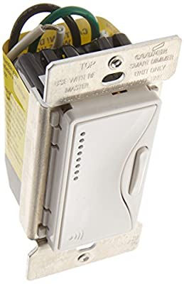 Cooper Wiring Devices RF9542-ZAW Aspire RF Accessory Smart Dimmer with LED, Alpine White